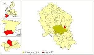 Mapa de localización de El Carpio