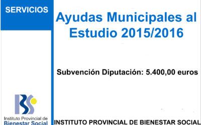 Subvención IPBS – Ayudas Municipales al Estudio 2015/2016