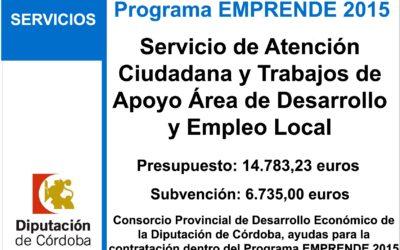 Servicio de Atención Ciudadana y Trabajos de Apoyo Área de Desarrollo y Empleo Local