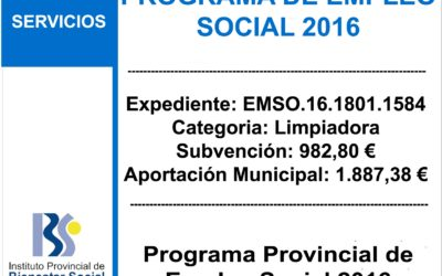 Subvención IPBS – Programa de Empleo Social 2016