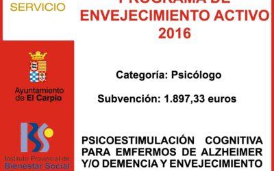 Subvención IPBS – Programa Participación Social del Mayor y Envejecimiento Activo 2016
