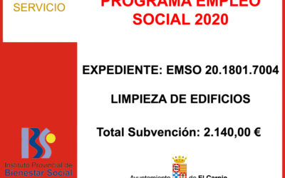 Subvención I.P.B.S. –  PROGRAMA EMPLEO SOCIAL 2020