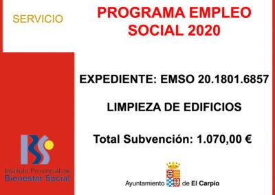 PROGRAMA EMPLEO SOCIAL 2020