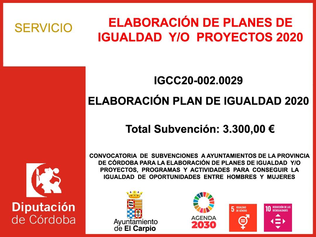 ELABORACIÓN DE PLANES DE IGUALDAD 2020