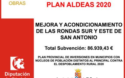Subvención Diputación – PLAN ALDEAS 2020