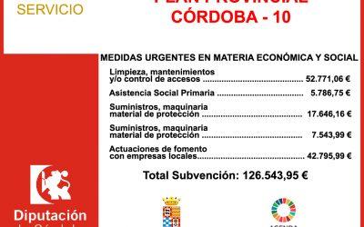 Subvención Diputación – PLAN PROVINCIAL CÓRDOBA – 10