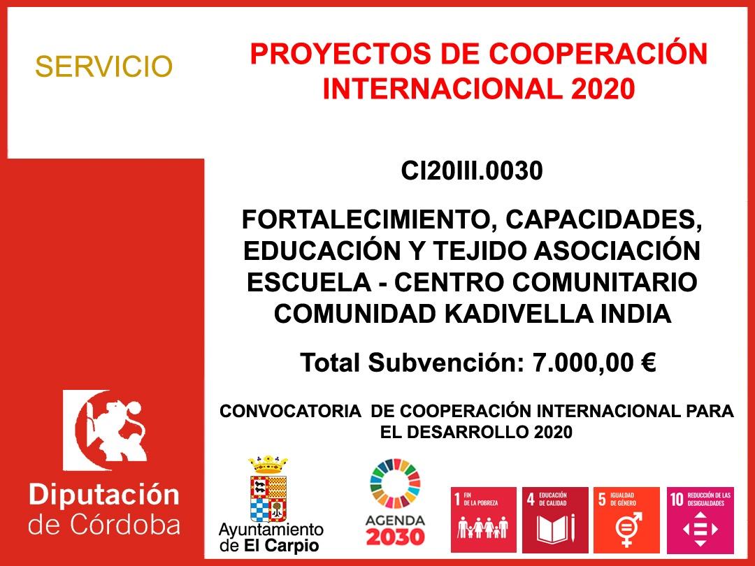 PROYECTOS DE COOPERACIÓN INTERNACIONAL 2020