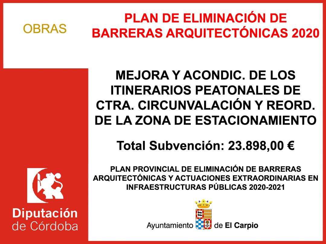 PLAN DE ELIMINACIÓN DE BARRERAS ARQUITECTÓNICAS 2020-2021
