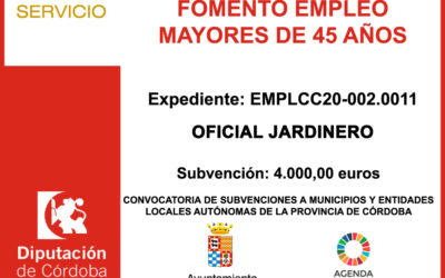 Subvención Diputación – Oficial Jardinero
