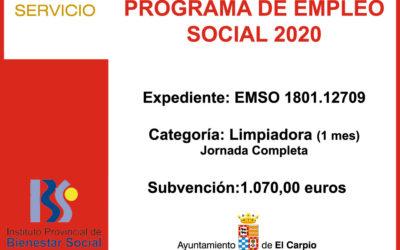 Subvención IPBS – PROGRAMA EMPLEO SOCIAL 2020