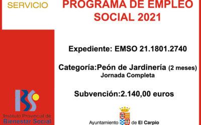 Subvención IPBS – PROGRAMA EMPLEO SOCIAL 2021