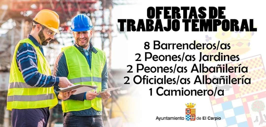 OFERTAS DE EMPLEO TEMPORAL