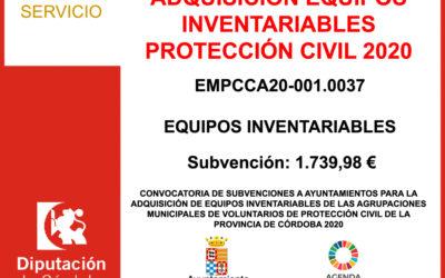 Subvención Diputación – PROTECCIÓN CIVIL 2020