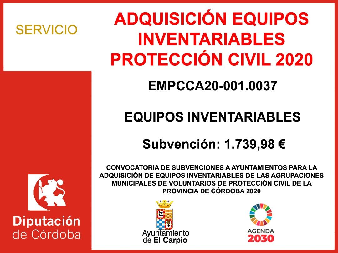 Subvención Protección Civil 2020