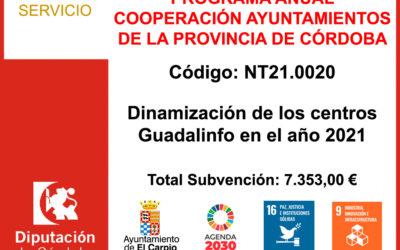 Subvención Diputación – Dinamización Centros Guadalinfo 2021