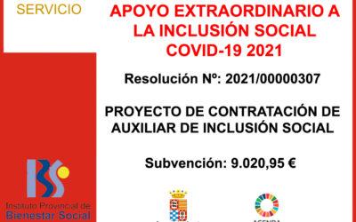 Subvención IPBS – PROGRAMA INCLUSIÓN SOCIAL POR COVID-19 2021