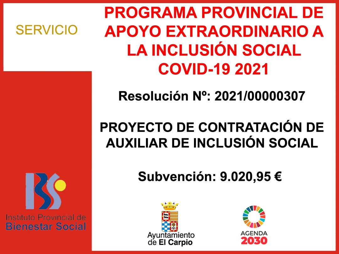 Programa provincial de apoyo a la inclusion social 2021