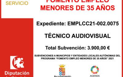 Subvención Diputación – FOMENTO EMPLEO MENORES DE 35 AÑOS 2021
