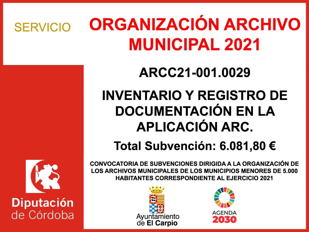 ORGANIZACIÓN ARCHIVO MUNICIPAL 2021