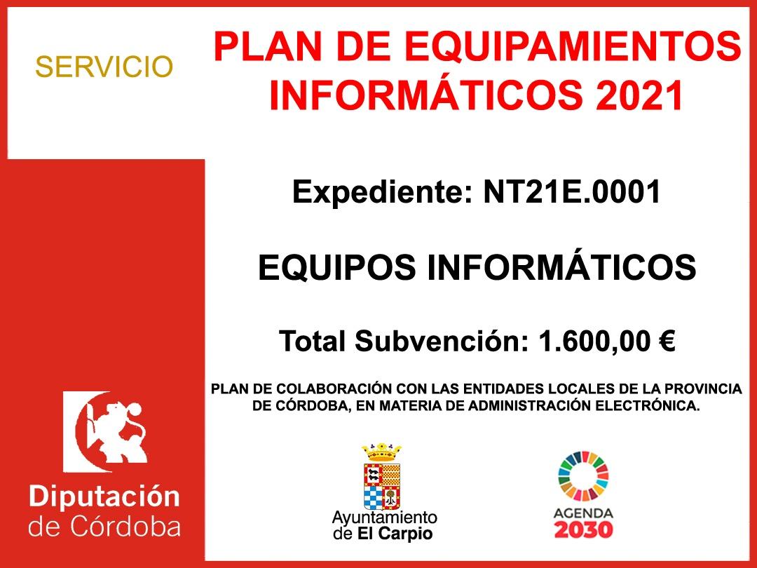 PLAN DE EQUIPAMIENTOS INFORMATICOS 2021