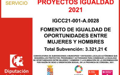 Subvención Diputación – PROYECTOS IGUALDAD 2021