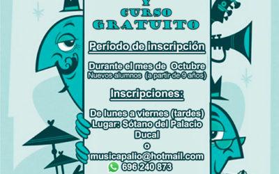 Escuela Municipal de Música de El Carpio – Periodo de matrícula e inscripción